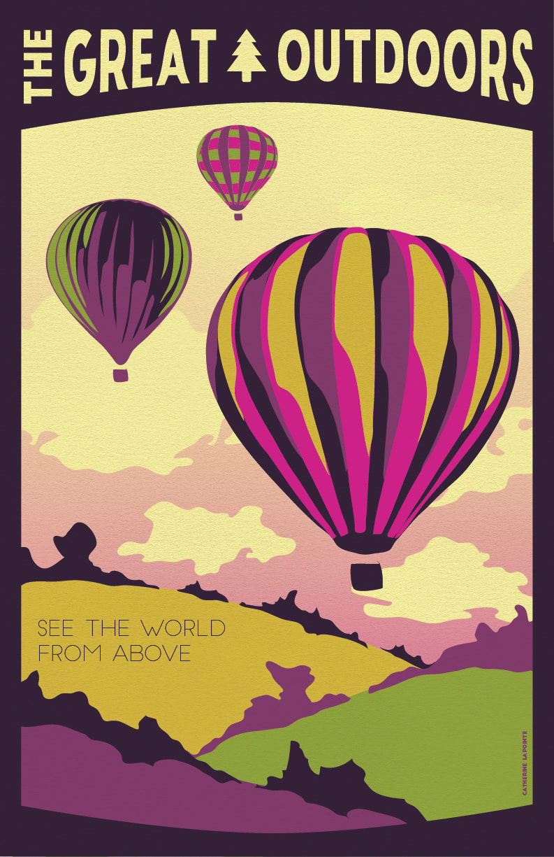 See The World From Above Great Outdoors Travel Poster