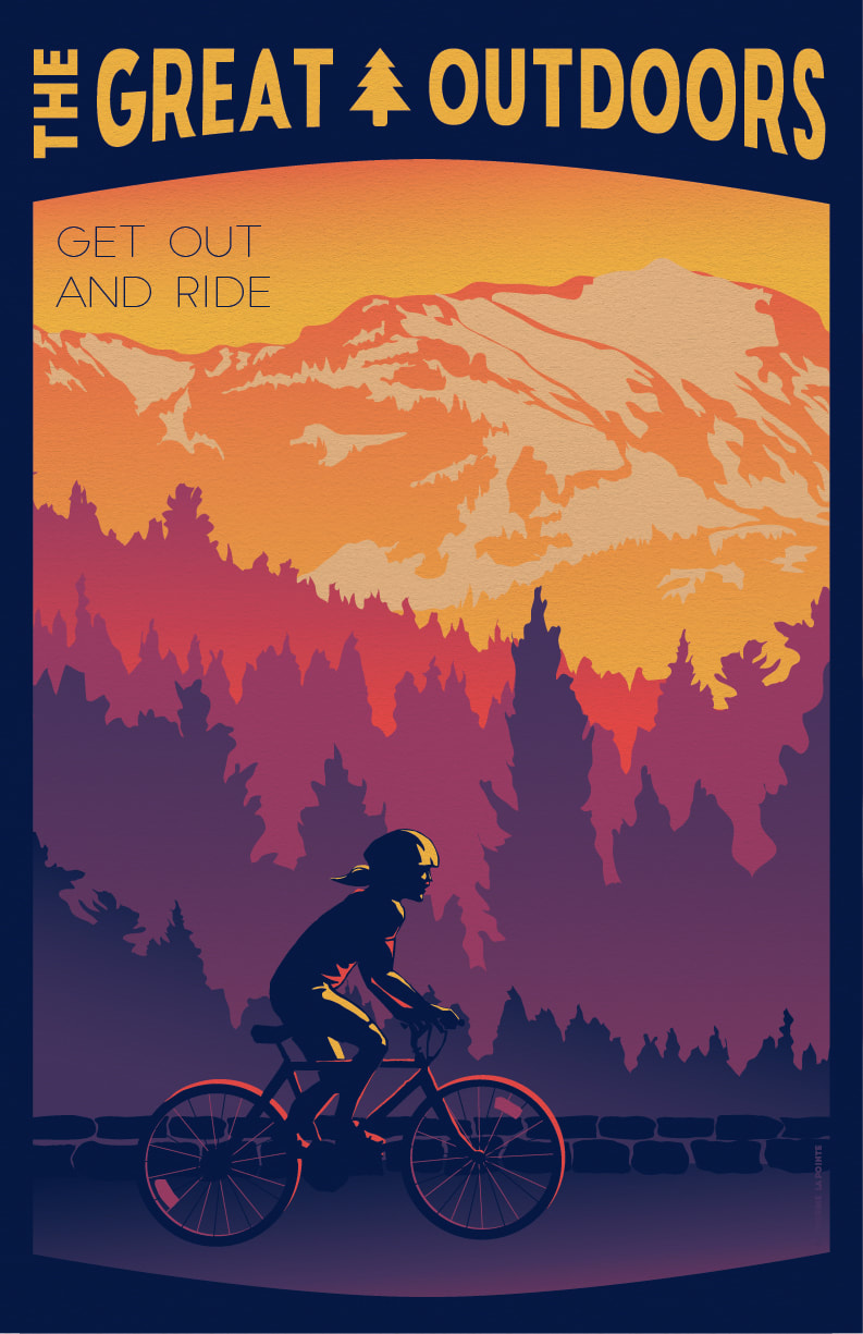 Get Out And Ride Great Outdoors Travel Poster