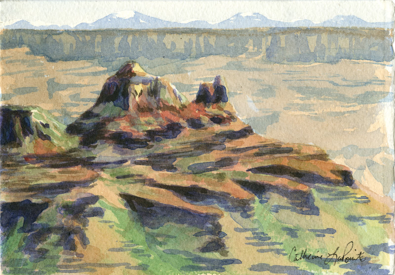 Grand Canyon from North Rim- watercolor (2019)