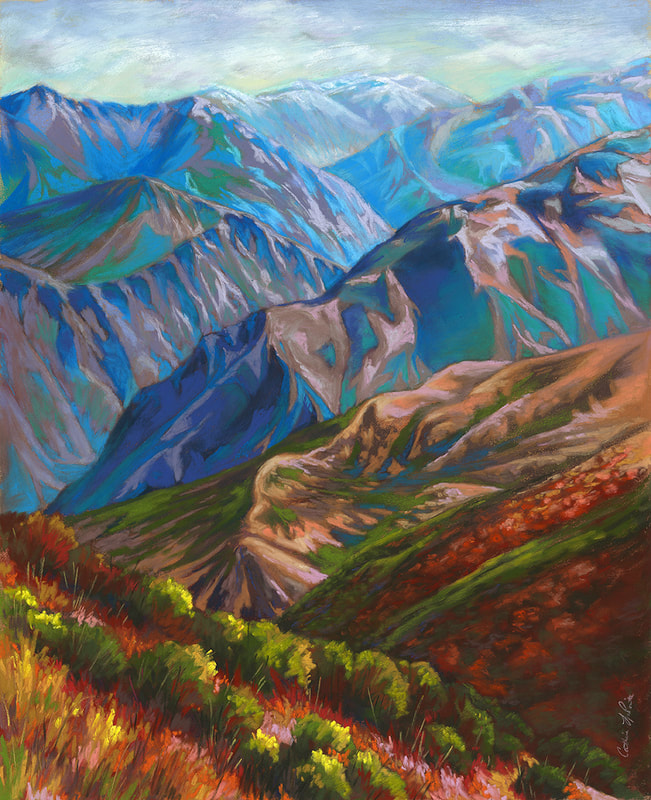 """King's Canyon"" 16x20"" pastel (2020) Kings Canyon National Park"