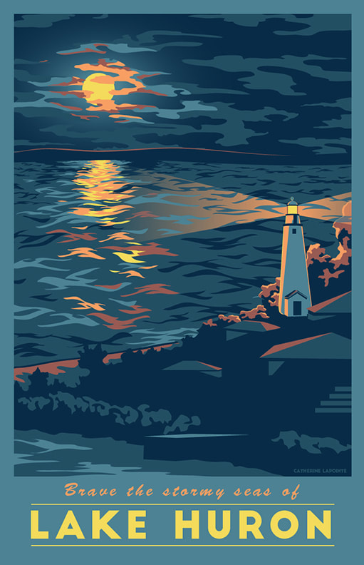 Lake HuronTravel Poster