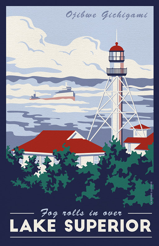 Lake Superior Travel Poster