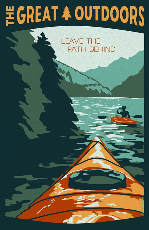 Leave the Path Behind Great Outdoors Travel Poster